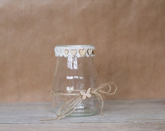 Rustic Butterfly Jar - Medium