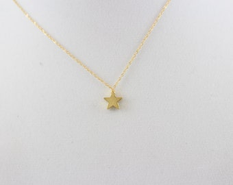14K Gold Fill Star Necklace