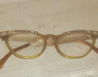 Vtg cateye aluminum glasses