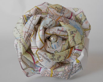 OS Map paper flowers