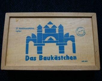 Baukästchen Baukasten Wooden German Building Blocks Set