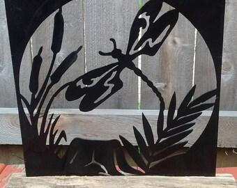 Dragonfly metal artwork