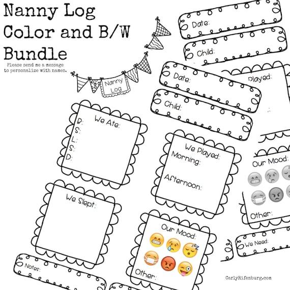 nanny log nanny notes childcare provider notes toddler