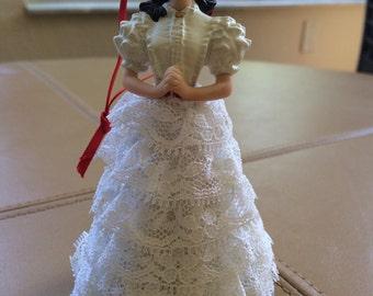 Hallmark 2002 Scarlett O'Hara White Dress