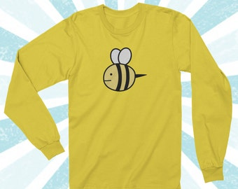 Bee and Puppycat Sweater design Long sleeve shirt - Cute Bee - Yellow - Kawaii - Bee and puppycat costume - cosplay -  S/M/L/XL/2X/3X/4X