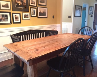 Reclaimed Barnwood Farmhouse Table - FREE LOCAL DELIVERY