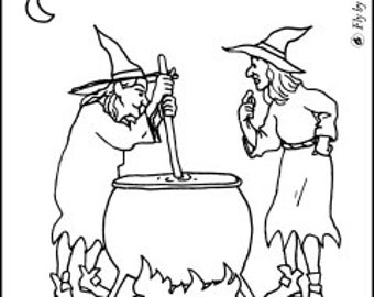 "Coloring Page - ""What's Cookin'"""