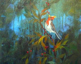 Cuckoo Bird; 18x24; Acrylic on Canvas