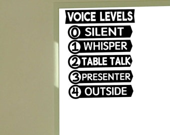Voice Level vinyl wall decal School Elementary Classroom Teacher Decal Educational
