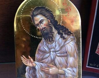 Saint John's byzantine icon by the hand of Stavros Tsintzas