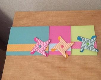 Pinwheel Greeting Card Set (3)