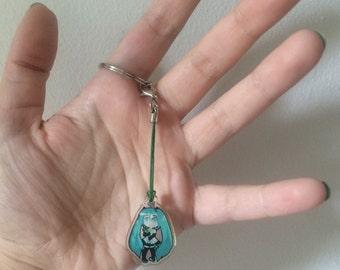 Hatsune Miku Clear Acrylic Keychain