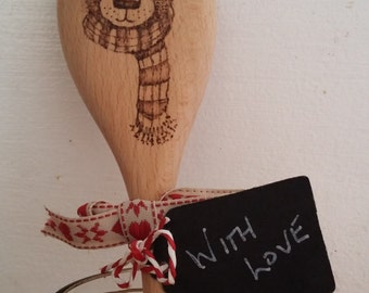 Pyrography Illustrated Wooden Spoon