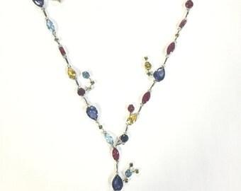Sterling Siler 925 Multicolor Necklace