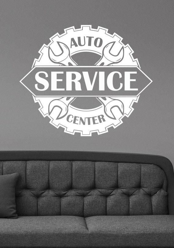 Auto Service Center Logo Window Sticker Custom Vinyl Decal - Custom vinyl wall decals for garage