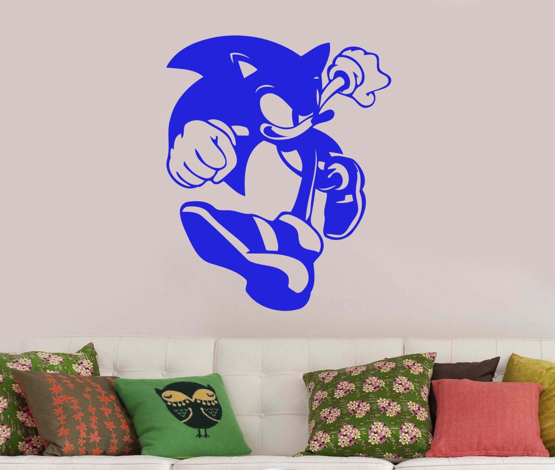 Sonic the hedgehog wall sticker vinyl decal comic book art - Sonic wall decals ...