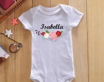 Personalized baby bodysuit, custom baby onesie, baby girl onesie, personalized baby gifts, personalized onesie, custom baby clothes