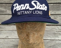 Vintage 90s PENN STATE University Nittany Lions Script Snapback Wool Hat by Nike - One size