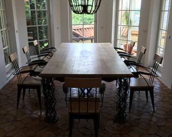 Wooden table oak