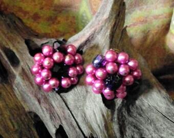 Vintage Japan Cluster Earrings