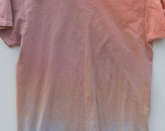 Medium Orange Ombre Dip Dye Shirt