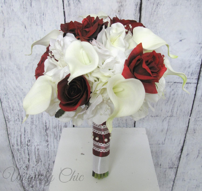 Bridal bouquet Burgundy rose Wedding bouquet Wine rose