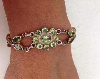Gorgeous Peridot Sterling Silver 925 Bracelet
