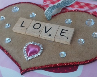 Handmade Love Scrabble Heart