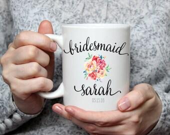 Personalized Bridesmaid Mug - Bridesmaid Gift - Maid of Honor Mug - Maid of Honor Gift - Bridal Party Gifts - Wedding Party Gift