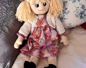 Hand Made Cloth Rag Doll