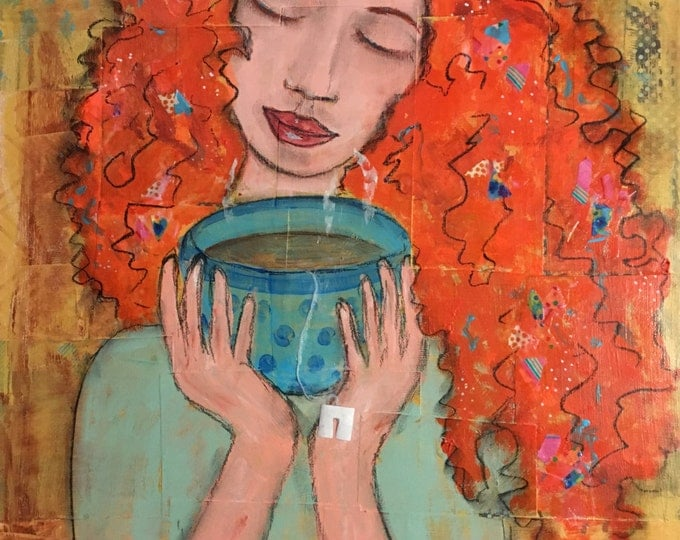 "Original mixed media painting ""SereniTea"" by Anya Getter"