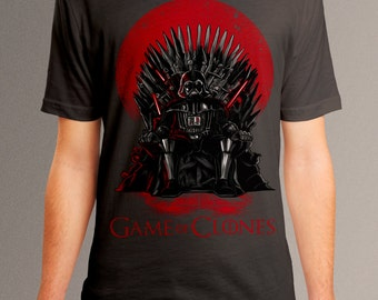 "Star wars shirt, game of thrones t shirt, darth vader shirt, ""Game Of Clones"""