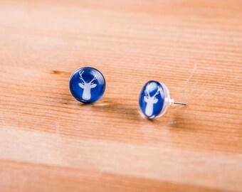 Deer earrings / Earrgins Deer / Patronus Harry Potter jewelry