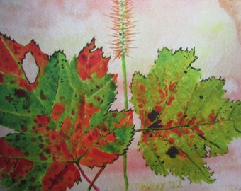 Leaves in Water Color