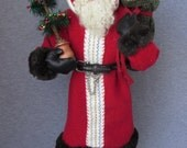 Nonna's Santas OOAK  Hand Sculpted Santa Claus on etsy-