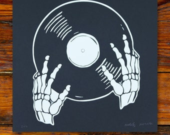 Vinyl Is Not Dead / Screenprinted Art Print