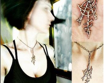 Anarcha Occult Pendant In Bronze -3D pendant- Anarchy Power Charm Amulet Venus Moon Mercury Goddess Original Design