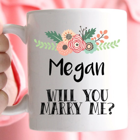 Will you marry me? Personalised mugs, great way to propose and a forever keepsake