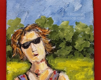 Park Runner, Original Painting, Running, Sports, Race, 5k, Female Runner, Woman Running, Winjimir, Home Decor, Office, Wall Art, Gfit, Art