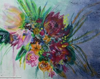 Original Artwork: Acrylic Painting - Courage, Dear Heart