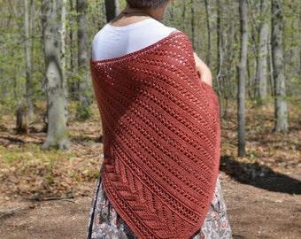 Notch Lace Shawl Knitting Pattern PDF
