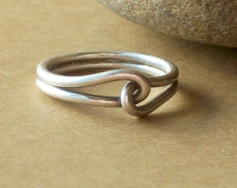 Silver Promise Rings - Oxidized Silver Ring - Sterling Silver Rings - Couples Promise Rings - Mens Promise Rings - Friendship Ring