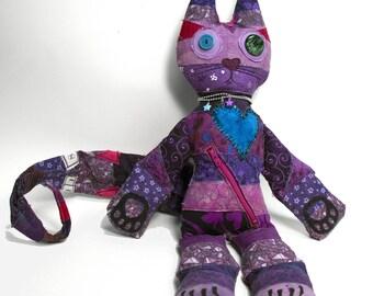 Scrappy Cat art doll