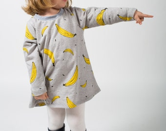 banana print sweatshirt dress Supayana