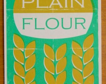 Vintage Style Packaging Print 15x20cm - Plain Flour