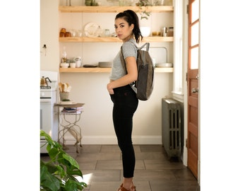 waxed canvas backpack - The Backpack no.2 in brown