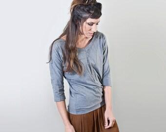 Women's Top • Front Seam • Quarter Sleeve Shirt • Women Tops • Loft 415 Clothing (No. 819)