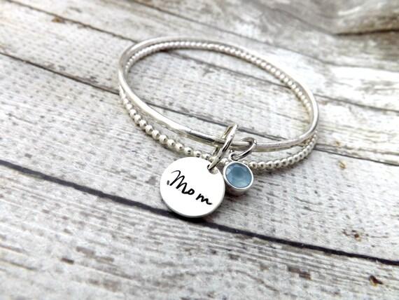 mothers bracelet-stacked bangle bracelets-bangle bracelet- stacked ...
