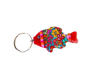 Fish keychain,  Fish key ring, keychain, key holder, unique key chain, bag decorate,key chain for woman,cute key chain, fish keychain, fish