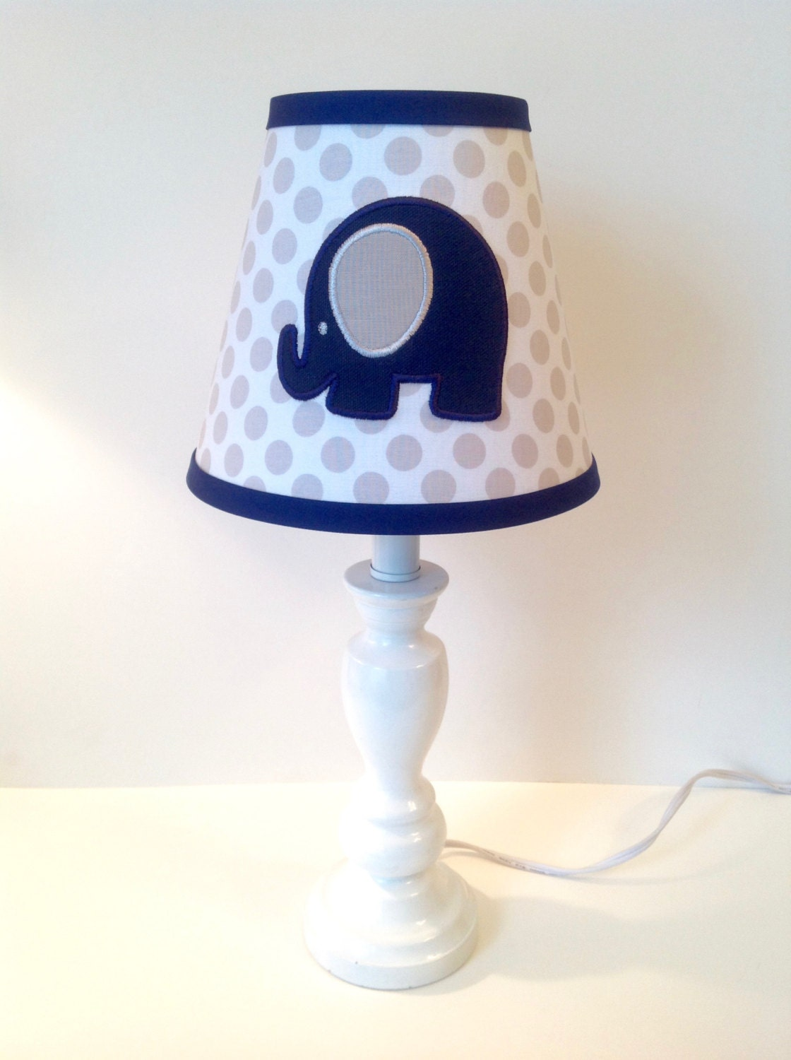 circus elephant nursery lamp shade other colors available for. Black Bedroom Furniture Sets. Home Design Ideas
